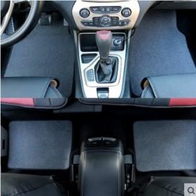 四季通用汽车脚垫适合所有车型纯色绒面防水防滑脚垫