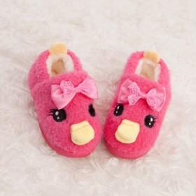 男女儿童家居软底防滑秋冬季保暖毛毛绒棉拖鞋