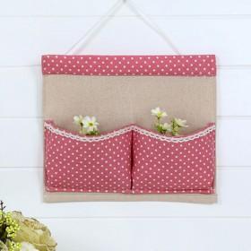 棉麻布袋亚麻布艺挂袋收纳袋子墙挂式门后整理袋挂墙袋