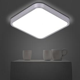 led亚克力方形吸顶灯卧室灯调三色18瓦30cm