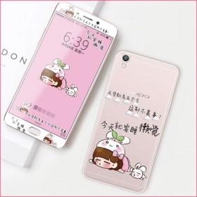 oppor9plus手机壳卡通硅胶套