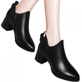 百年纪念马丁靴秋冬头层牛皮低帮鞋休闲鞋防水台女鞋