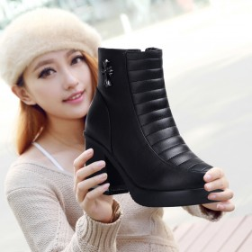 头层牛皮女士短靴真皮女靴马丁靴特价清仓