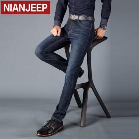 NIANJEEP/吉普盾牛仔裤男裤春季厚款休闲