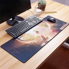 卡通动漫超大号鼠标垫加厚锁边LOL游戏电脑桌垫网吧