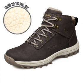 真皮男户外鞋登山鞋100%羊羔绒