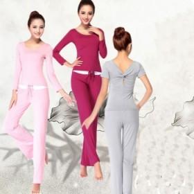 瑜伽服套装女式春夏季纯棉宽松显瘦修身莫代尔运动健身