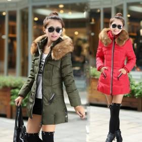 秋冬季时尚女装外套韩版羽绒棉衣中长款大码显瘦