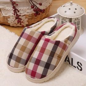 秋冬季情侣棉拖鞋女室内包跟防滑居家毛毛拖鞋