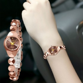 艾诺正品女款防水钨钢手链表女表石英表腕表女士手表