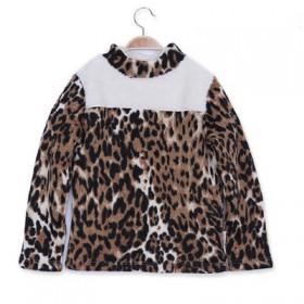冬季圆领加绒加厚保暖打底衫抓绒男童女童舒适内衣翻领