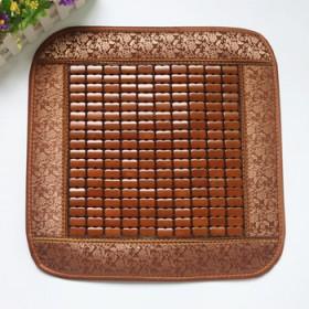 45x45cm咖啡色坐垫竹凉垫汽车垫餐椅垫办公椅垫
