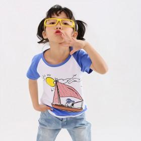 女童短袖t恤夏季纯棉背心宝宝半袖上衣童装中小童
