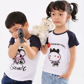 男童t恤短袖纯棉夏季儿童女宝宝体恤中小童汗