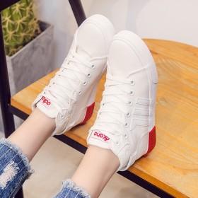 百搭帆布鞋女学生韩版休闲女鞋2017春款高帮帆布鞋