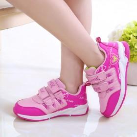 春秋季新款中大童童鞋儿童运动鞋女童透气跑步鞋单鞋女