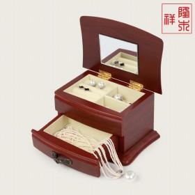 高档手式盒首饰盒实木公主戒指耳钉欧式韩国小号饰品盒