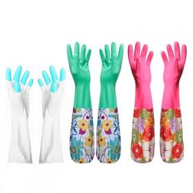 6蔓妙加长洗衣洗碗2双装加绒束口薄款炫指