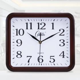康巴丝12寸时尚钟表客厅挂钟简约长方形石英钟卧室现