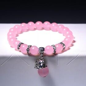 粉水晶十二星座手链