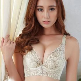 韩妮聚拢大码文胸 上薄下厚模杯调整型女士内衣胸罩