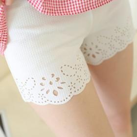 舒适锦纶面料镂空三分安全裤