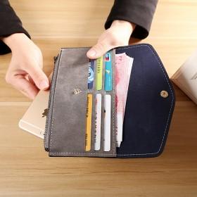 女士磨砂钱包长款 可装手机