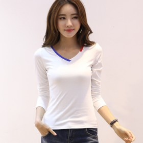 2017纯棉女T恤衫