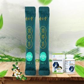 金奥力氨基葡萄糖碳酸钙胶囊60粒同仁堂苦荞茶14G