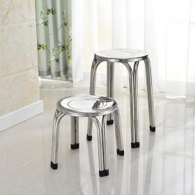 加厚不锈钢圆凳子饭店非304非铁艺特价园凳餐厅家用