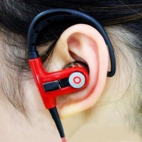 运动重低音挂耳式线控带麦入耳挂耳塞式耳塞耳机