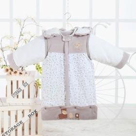 婴幼儿睡袋春秋薄款新生儿珊瑚绒防踢被儿童纯棉睡袍