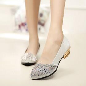 春夏新款正品老北京布鞋女鞋单鞋彩钻舒适时尚软底低跟