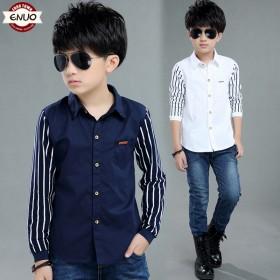 伊诺小镇童装上衣春装韩版长袖男童衬衫
