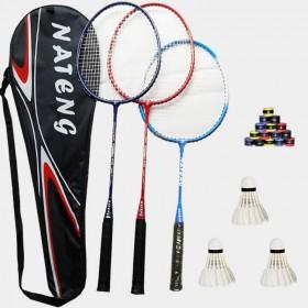 3支装亲子羽毛球拍家庭套装送3球3手胶1拍包