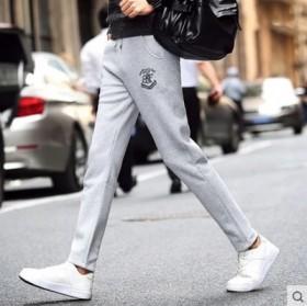 纯棉冬季运动裤男士宽松长裤子加绒加厚卫裤直筒休闲裤