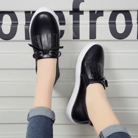 2017早春新款低帮鞋女鞋圆头罗马风格韩版浅口纯色