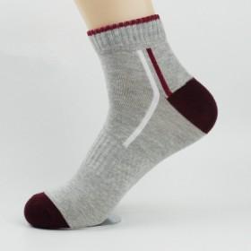 三双袜子 春秋冬季男士中筒袜四季棉袜篮球透气防臭袜