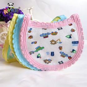 5只装宝宝口水巾纯棉围嘴儿童饭兜婴儿围兜