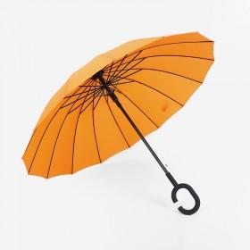 C型免持16骨雨伞今六广告雨伞礼品商务长柄晴雨伞