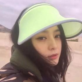范冰冰同款户外遮阳帽登山帽空顶帽男女情侣帽运动帽