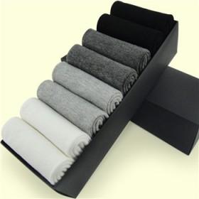 【8双盒装】纯棉男士袜子吸汗防臭棉袜耐磨棉袜