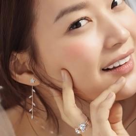 日韩版气质甜美耳钉女韩国长款耳环复古女耳坠无耳洞耳