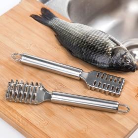 鱼鳞刨买一送一 加厚不锈钢创意快速刮鱼鳞去鱼鳞器