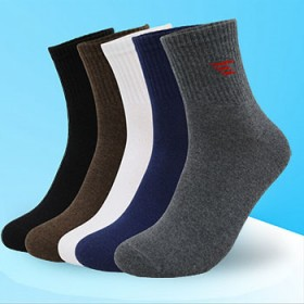 【6双盒装】纯棉运动袜 男士中筒袜吸汗耐磨防臭袜