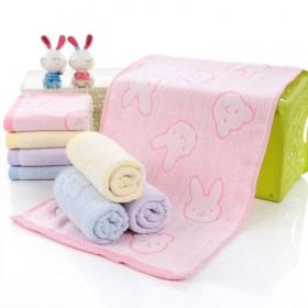 纯棉儿童毛巾 动物提花 4色可选