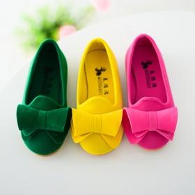 2017春季新款儿童豆豆鞋宝宝小皮鞋可爱蝴蝶结童鞋
