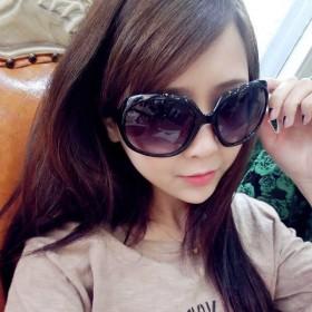 圆脸明星款时尚韩版太阳眼镜长脸 女复古大框潮眼镜