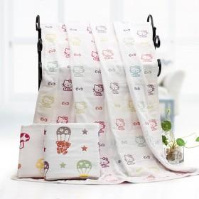 加厚6层纯棉儿童宝宝毛巾被浴巾