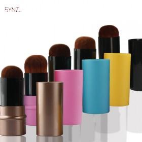 便携式化妆彩妆工具伸缩刷纤维细毛多色可选